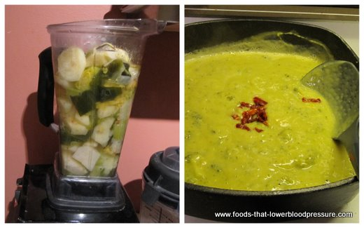 Preparing broccoli potato soup recipe