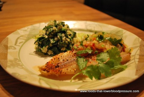 Baked fish with pineapple relish