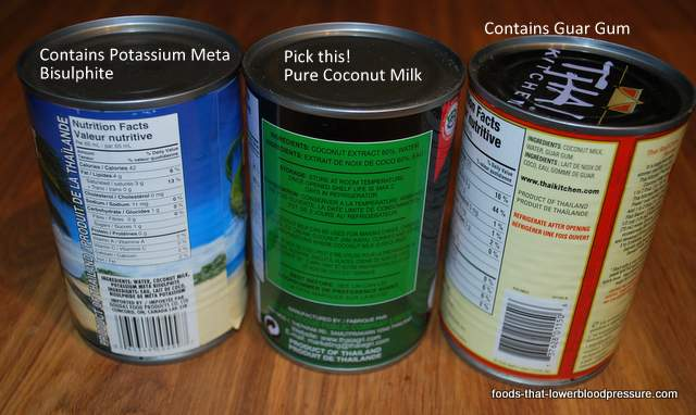 coconut milk ingredients