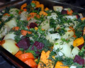 fat free root veggies bake
