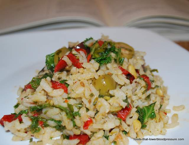 Rice Side Dish For The DASH Diet: Pesto Rice